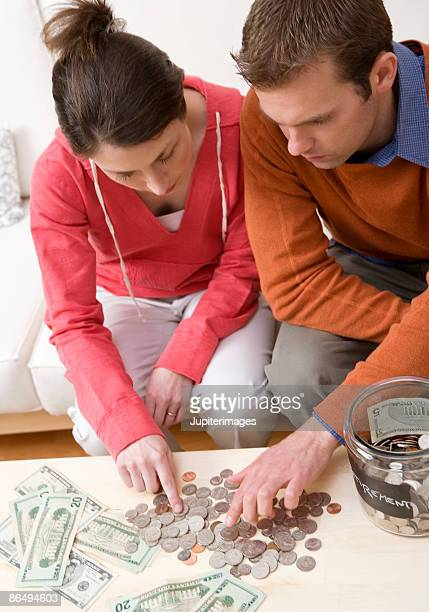 Couple counting change