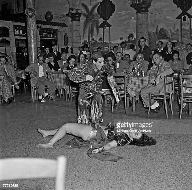 A couple dance the rumba at a nightclub in 1946 in Havana Cuba