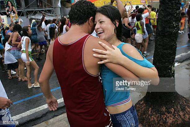 A couple dances in the streets of Salvador Brazil during the Carnival on February 5 Centuries of slave trade with Central and West Africa has left 40...