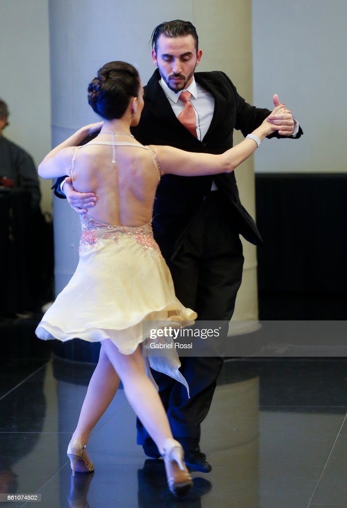 A couple dances Tango during the final presentation of Argentina-Uruguay Candidacy For FIBA World Cup 2023 at NH Hotel on October 12, 2017 in Buenos Aires, Argentina.