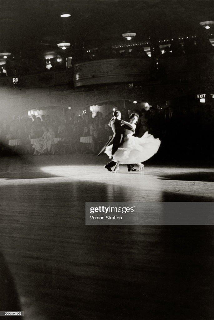 A couple dancing at a ballroom, London, circa 1961.