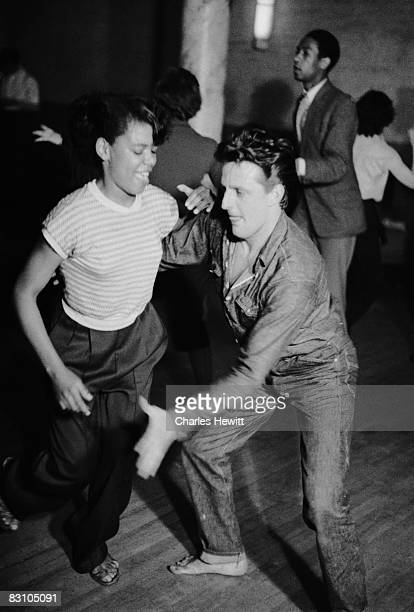 A couple dancing at Cy Laurie's Soho basement jazz club the Blue Heaven 10th July 1954 Original publication Picture Post 7208 Blue Heaven In The...