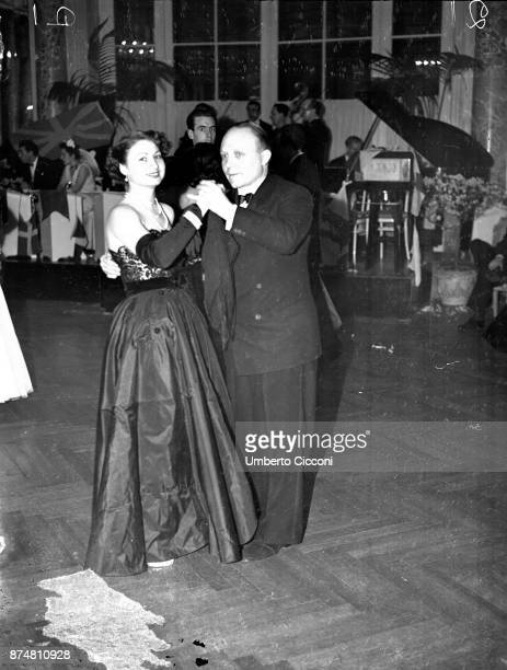 Couple dancing at the Catholic Press Congress party, 1950.