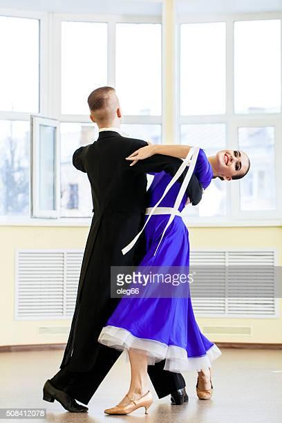 Pareja de baile, baile de salón