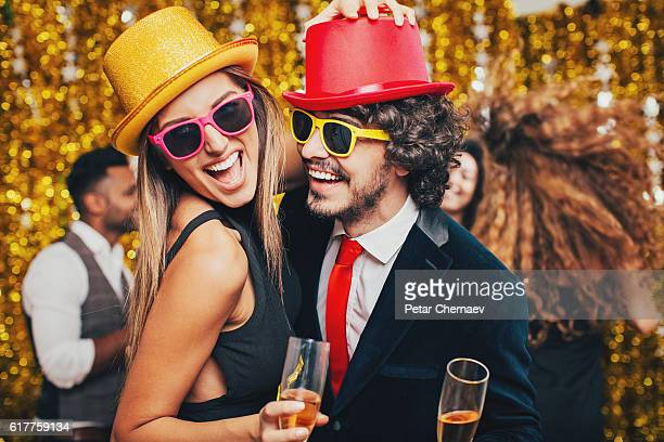 Couple dancing on a formal party