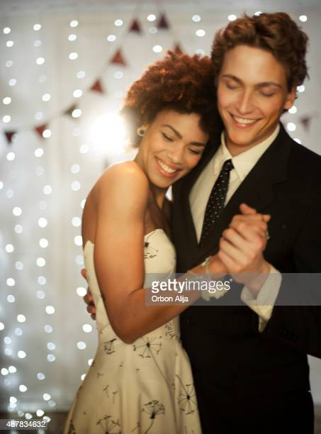 couple dancing on dance floor - prom stock pictures, royalty-free photos & images
