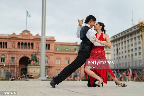 couple dancing tango - argentina stock pictures, royalty-free photos & images