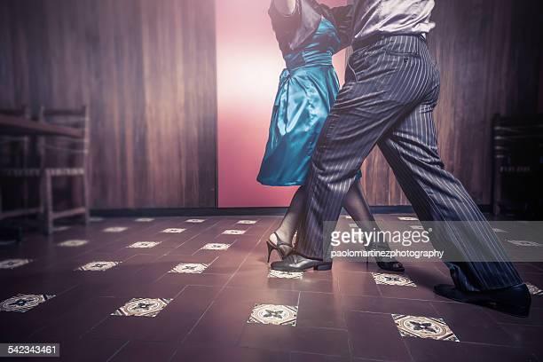 couple dancing tango - tango dance stock photos and pictures