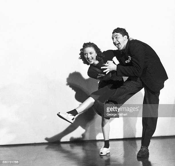 Couple dancing the Jitterbug in a scene from 'The Jones Family in Hollywood'