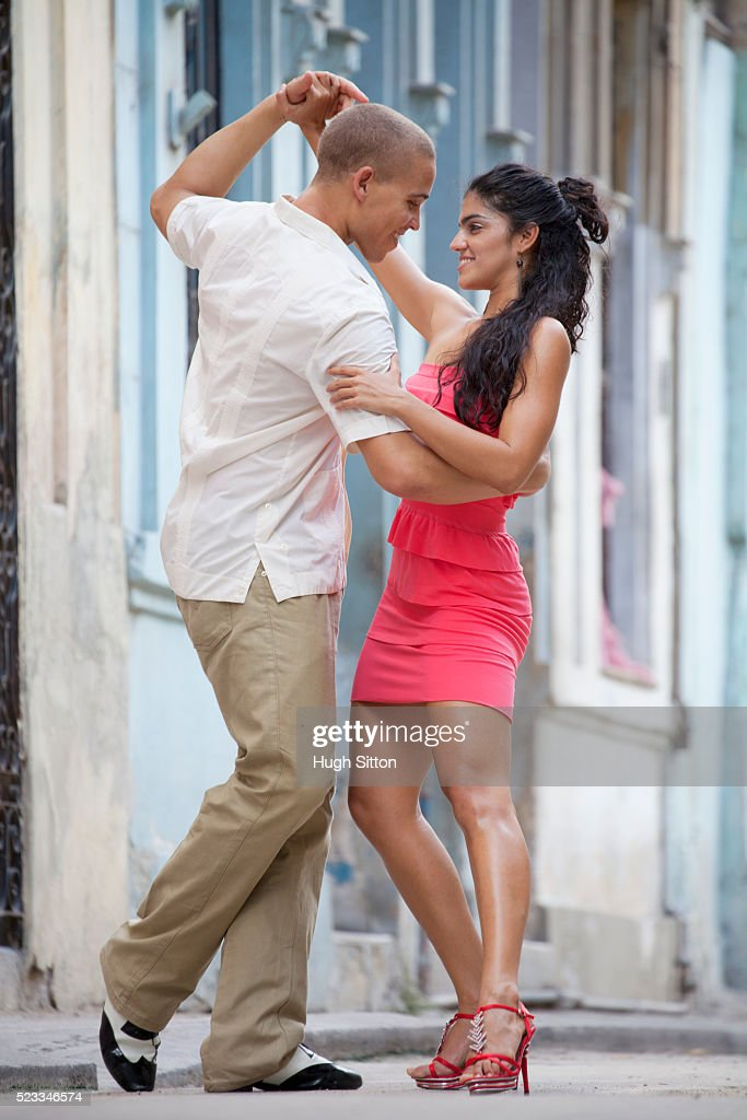 Couple dancing together,Havana. Cuba : Stock Photo