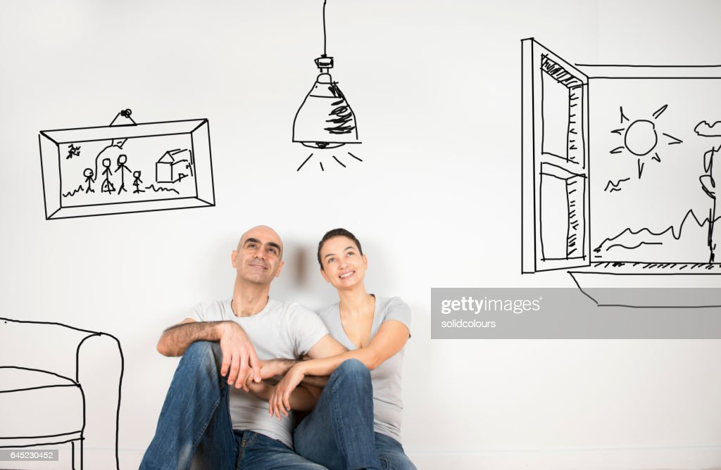 Couple day dreaming : Stock Photo