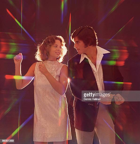 Couple disco dancing