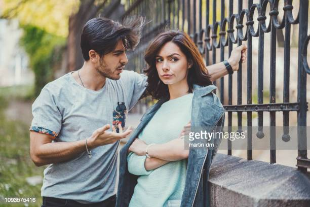 couple discussing their relationship - human relationship stock pictures, royalty-free photos & images