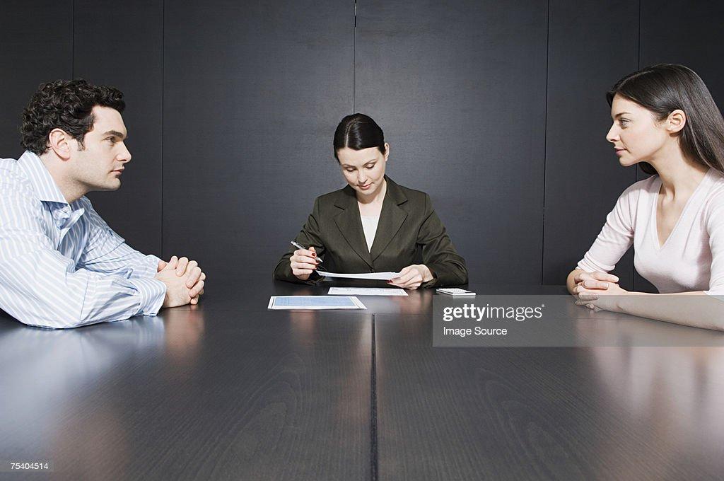Couple divorcing : Stock Photo
