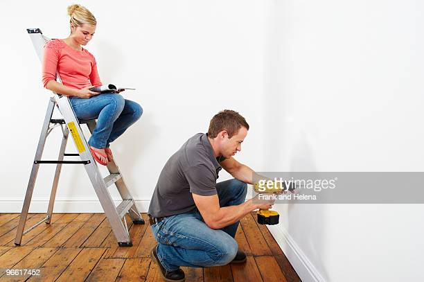 Couple doing DIY
