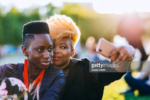 Couple doing selfie.
