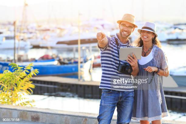 Couple enjoing summer vacations