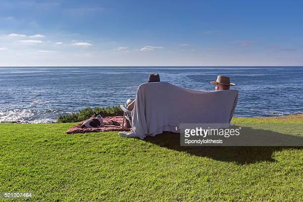 Paar Genießen Sie den Strand am Wochenende, San Diego
