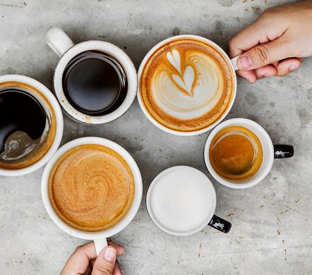 Couple enjoying coffee on the weekend 938345684