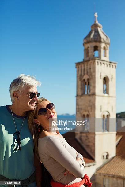 couple enjoying holidays - dalmatia region croatia stock pictures, royalty-free photos & images