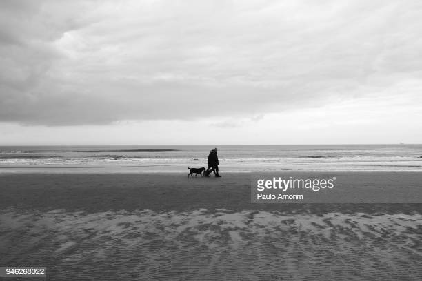 A Couple Enjoying on the beach at North Sea