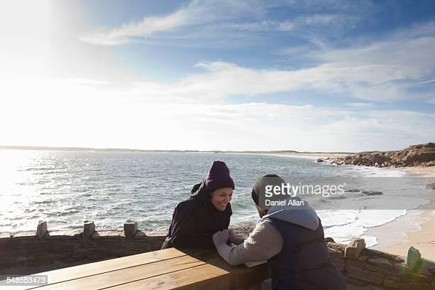 Couple enjoying seaside, Connemara, Ireland