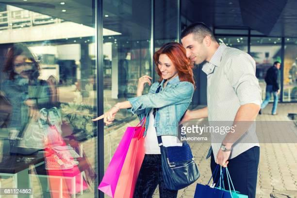 Couple enjoying shopping