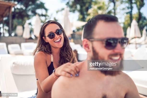 Couple Enjoying The Beach Massage