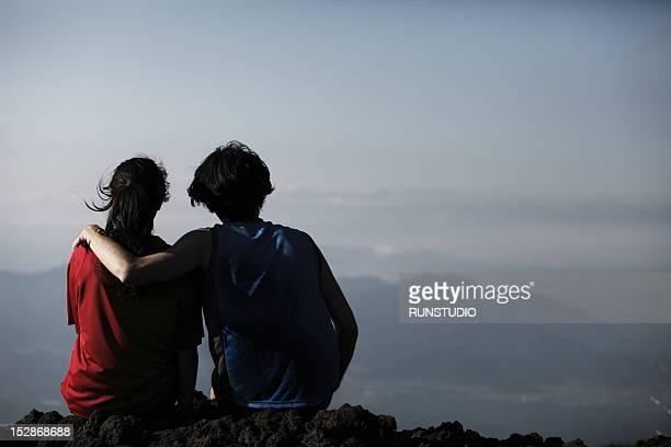 Couple Enjoying The Mountain