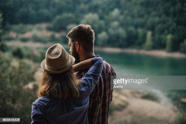 Couple enjoying the view together
