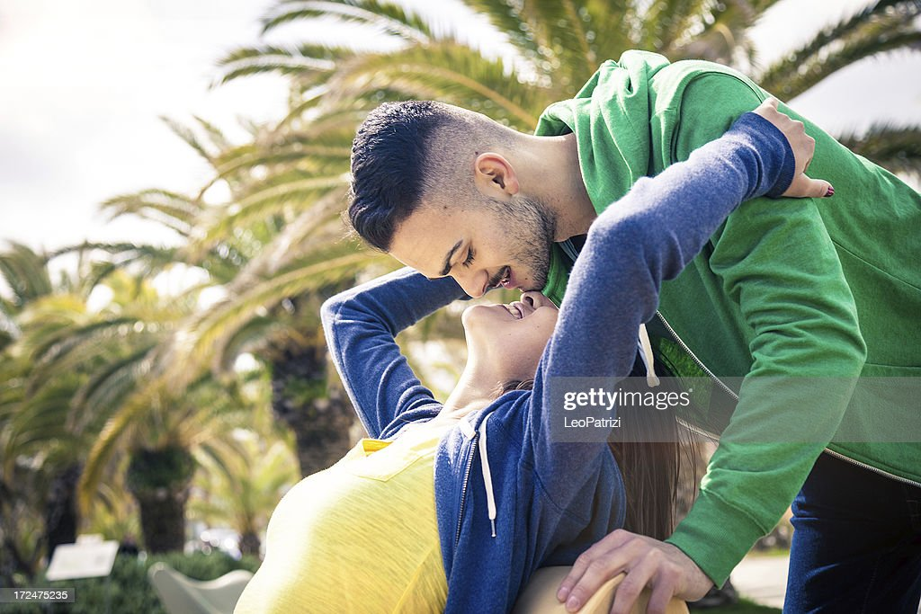 couple enjoying their relationship lovely kiss stock photo getty