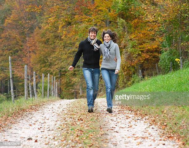 couple enjoying this beautiful fall day (xxxl) - high collar stock pictures, royalty-free photos & images