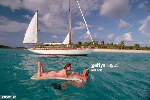 Couple Enjoying Tropical Water