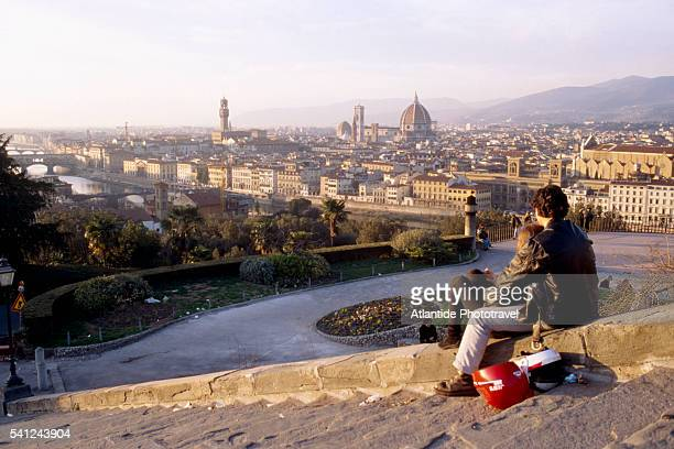 Couple Enjoying View from Piazzale Michelangelo