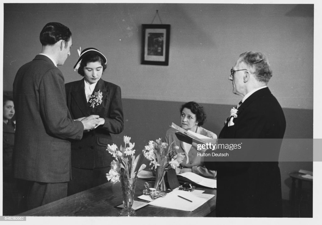 A Exchange Their Wedding Vows In Ceremony At London Registry Office