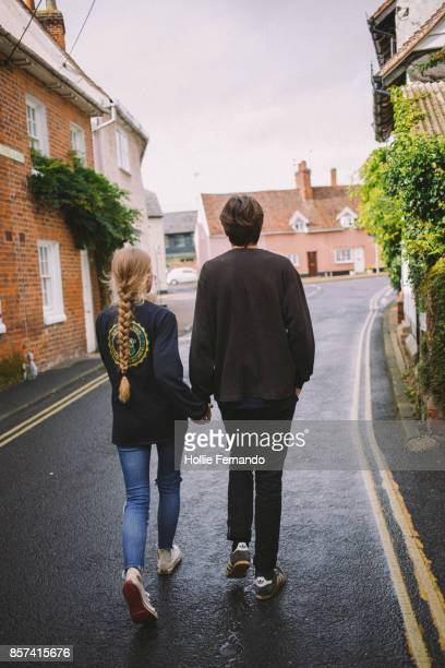 Couple exploring Country Village