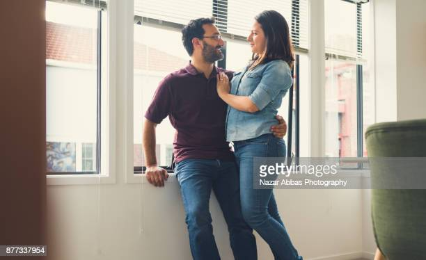 Couple expressing love for each other.
