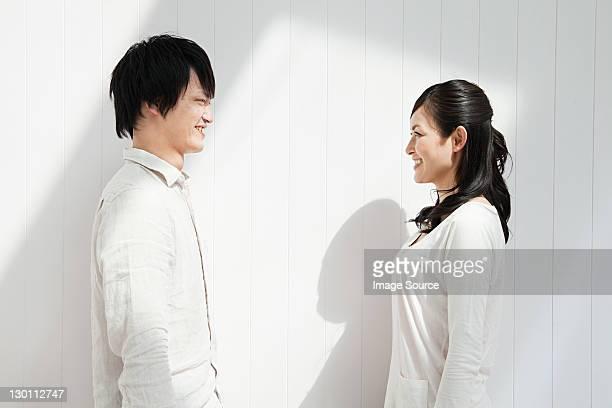 Paares Angesicht zu Angesicht