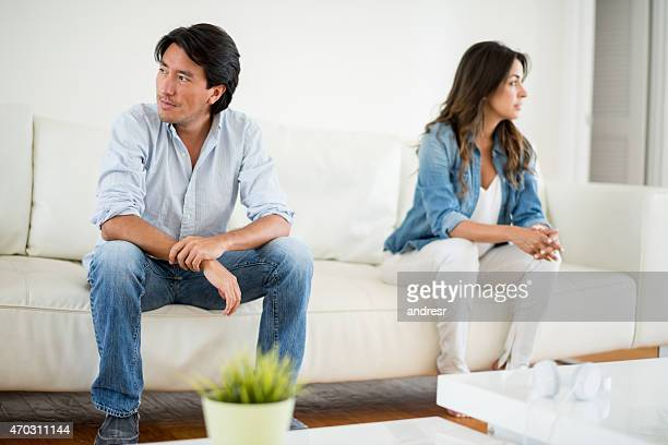 Couple fighting at home