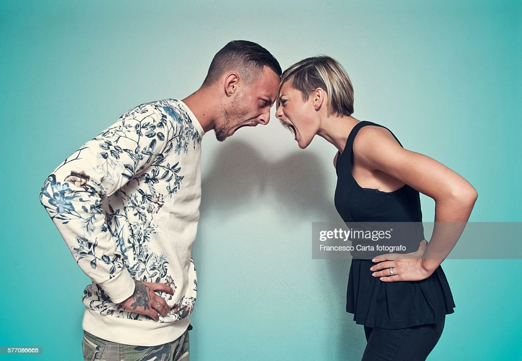 Couple fighting : Stock Photo