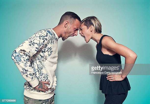 couple fighting - face to face stock pictures, royalty-free photos & images