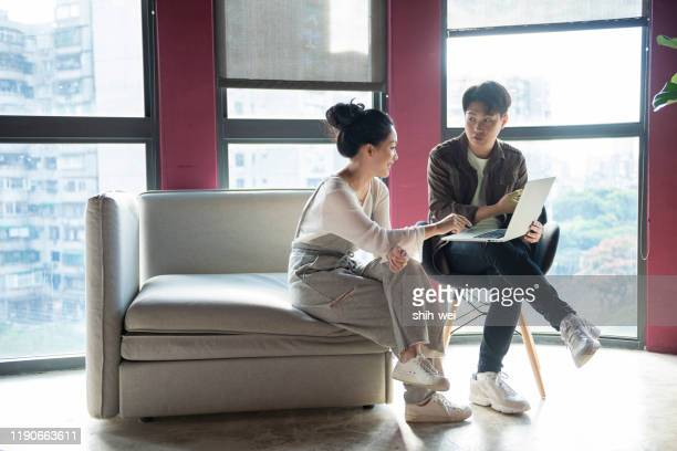 couple freelancers work - husband stock pictures, royalty-free photos & images