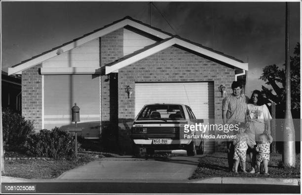 Couple from Rosebury near Campbelltown who are victims of the Governments failed HomeFund schemeBelinda and David Bailey with kids Kurt 2½ and...