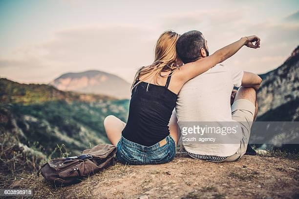 Couple fun in nature