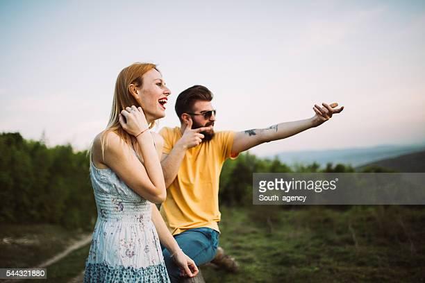 Couple fun on mountain