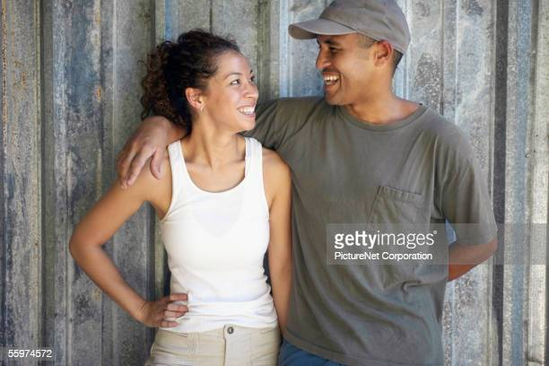 couple gazing affectionately at each other - respeito - fotografias e filmes do acervo