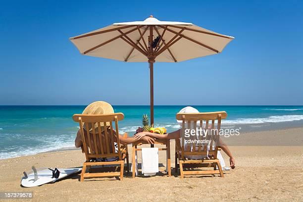 couple getaway at a beach