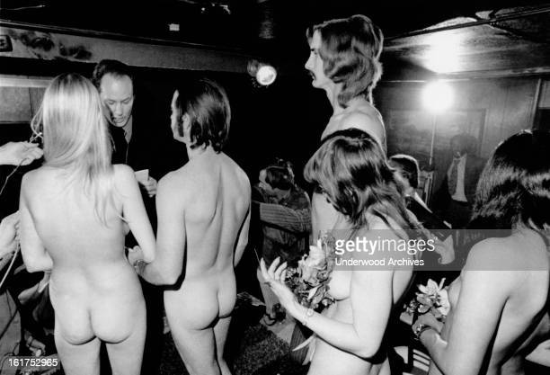 A couple gets married in a nude double ring ceremony Houston Texas December 10 1973 A Universal Life Church minister performs the ceremony