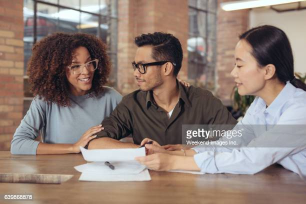 Couple getting financial advice