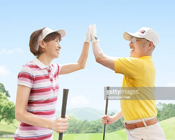 Couple Giving High-five